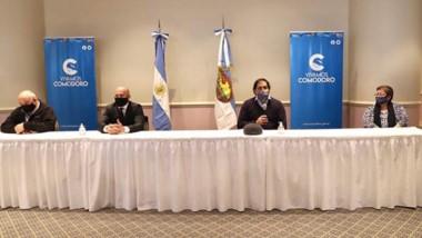 Comodoro. Las medidas se anunciaron en conferencia de prensa.