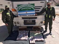 Los gendarmes contabilizaron un total de 7.000.000 pesos en billetes de distintas denominaciones.