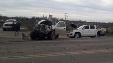 Severos daños materiales sufrieron los dos rodados. Hubo un herido.