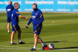 Primera práctica de Ronald Koeman en el Barcelona. Comenzó una nueva era en el Culé... sin Messi.