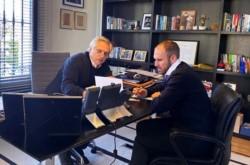 Guzmán se comunicó por videoconferencia con el presidente de la Cámara de Diputados, Sergio Massa y con el jefe de la bancada del FdT, Máximo Kirchner.