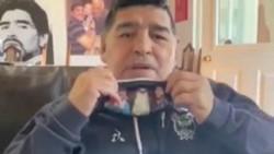 Maradona lanzó una campaña de concientización en la lucha contra el coronavirus.