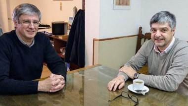 Sergio Ongarato recibió al ministro Gustavo Aguilera.