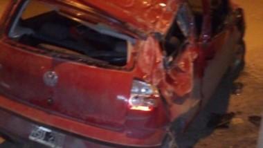 Si bien el vehículo tuvo visibles daños, no se registraron lesionados.