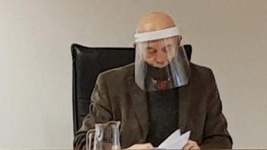 El juez Pérez estuvo a cargo de la audiencia desarrollada ayer.