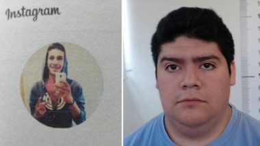 Falso Instagram. El perfil falso (izquierda) y Fernando Calfunao, quien tenía una pena grave de hace 2 años.