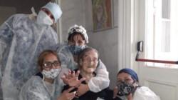 Yolanda Gugliotti, de 109 años, que logró superar el coronavirus.