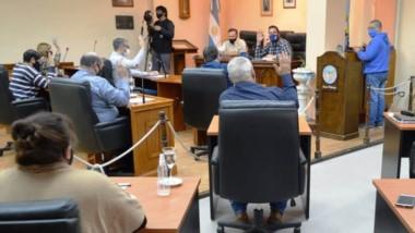 Debate. El Concejo Deliberante de Rawson tuvo una sesión especial.