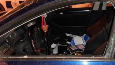 El auto fue dañado en uno de sus cristales y el ladrón fue atrapado.