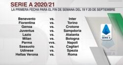 Juventus debutará contra la Sampdoria, justo el mismo rival al que enfrentó cuando se consagró campeón en julio.