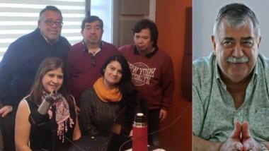 Hay equipo. El grupo de trabajadores de Cadena Tiempo en Comodoro y una rica charla con Héctor González.
