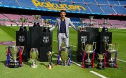Luis Suárez no puedo evitar las lagrimas en su última conferencia como jugador del Barcelona.