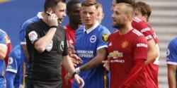Insólito final en la Premier League: Manchester United venció a Brighton con un penal cobrado por el VAR con el partido terminado.