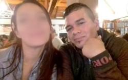 Débora Acevedo junto a su atacante.
