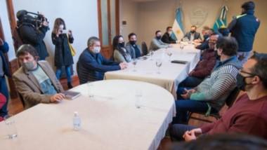 Convocatoria. Los empresarios del Parque Liviando discutieron la reconversión con el Ejecutivo municipal.