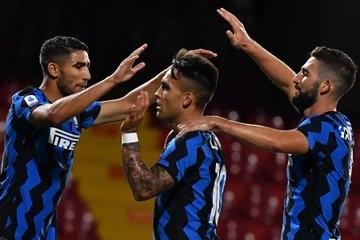 Lautaro marcó un tanto en la victoria del Inter, por 5 a 2 ante Benevento.