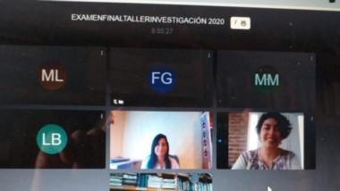 Los egresados por vía virtual de la Universidad de la Patagonia brindan sus experiencias a través de Zoom.