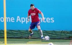 Hoy, después de la tensa novela, Lionel Messi regresó a los entrenamientos del FC Barcelona.