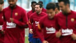 Messi entrenó bajo el mando de Koeman.