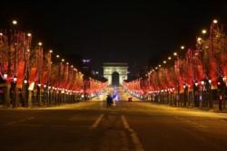Una imagen de la avenida Campos Eliseos, de Paris, una
