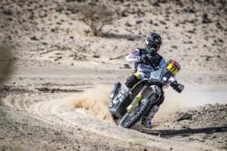 Luciano Benavides se accidentó en el Dakar y tuvo que abandonar.