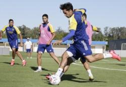 El plantel se entrenó esta tarde en Ezeiza con miras a la definición del domingo ante Banfield en San Juan.