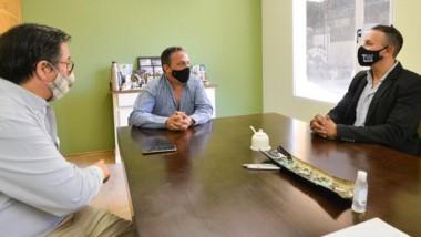 Maderna se reunió con  el empresario Gustavo Moreno.