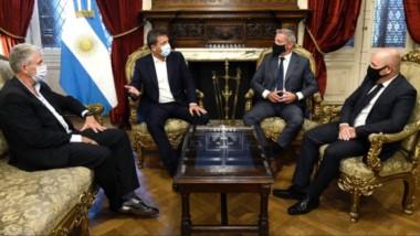 El gobernador del Chubut mantuvo un encuentro con el presidente de la Cámara de Diputados de la Nación.