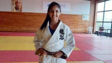 Antonella Smart, judoca destacada de Comodoro, entrena en Bs. As.