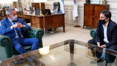 El gobernador Arcioni y el ministro Trotta se reunieron este jueves.