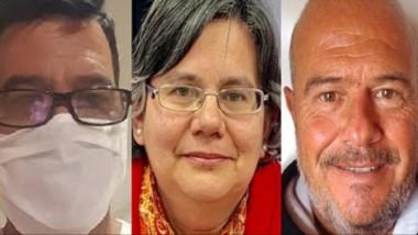 Ideas. Desde la izquierda, Casado, Ciccarone y Coustet, los autores de la propuesta ambiental en la capital.