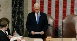 Pence confirma la victoria de Joe Biden ante el Congreso luego de unas 15 horas tormentosas desde que iniciara la sesión.
