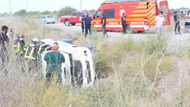 La mujer Policía se vio afectada por la situación y pudo ser rescatada a salvo por los bomberos de Trelew.