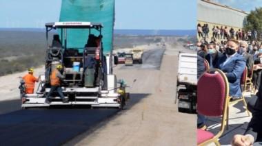 Claves. La doble vía Trelew-Madryn avanza luego de años de parálisis, impulsada por la gestión del ministro Gabriel Katopodis.