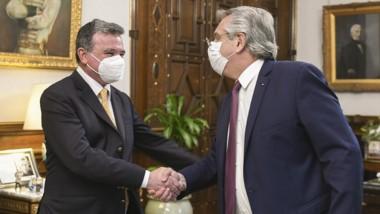 Madanes Quintanilla junto al presidente Fernández en la Rosada.