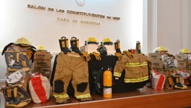 El presidente de la Asociación de Bomberos Voluntarios agradeció el aporte por parte de la empresa.