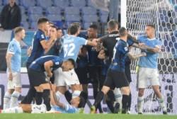 Lazio-Inter acaba con pelea entre los jugadores. Lautaro Martínez se puso furioso por la derrota.
