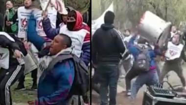 Los incidentes terminaron en represión por parte de la Policía.