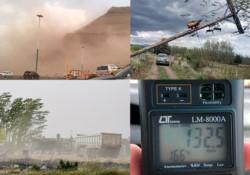 El Chenque y el viento. Una nube de polvo cubrió Comodoro Rivadavia. Por la poca visibilidad, cortaron la circulación en las rutas nacionales.