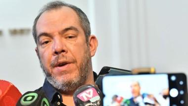 El ministro de Gobierno, José Grazzini, informó de l as tareas. (Foto: Daniel Feldman / Jornada)