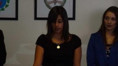 Camila Sánchez (centro). De la Fiscalía.