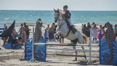 Las pruebas de equitación reunieron a un buen número de espectadores.