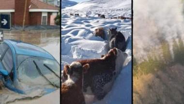 En Chubut se registraron inundaciones en Comodoro Rivadavia en 2017, intensas nevadas en 2020 y récords de calor en lo  que va del año 2021.