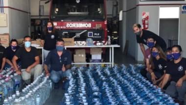 Desde el cuartel de Comodoro partió el camión hacia la Cordillera con todos los elementos donados.