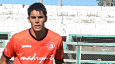 Lucas Romero, el día del debut en la Primera de Moreno, con 16 años.