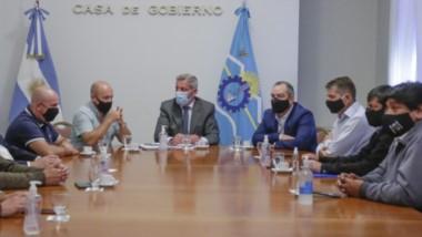 Arcioni junto al vicegobernador Ricardo Sastre presidieron la reunión con los intendentes donde uno de los ejes fue el comienzo de las clases.