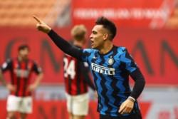 Lautaro es el primer jugador del Inter que logra un doblete visitando al Milan desde el 22.03.1998 (Simeone).