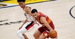 Una acrobática asistencia de espaldas y el triple en la cara a una estrella de la NBA: lo mejor de Campazzo en el triunfo de Denver a Portland.