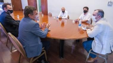 Acuerdos. Una postal del encuentro entre los funcionarios nacionales y los provinciales.
