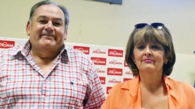 Dúo. Lencina y Suárez quieren normalizar la Asociación barrial.